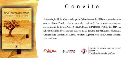 Apresentação do livro, MPLA - A Revolução Traída - 13 Teses em Minha Defesa, de Nito Alves