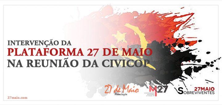 Intervenção da Plataforma 27 de Maio na Reunião da CIVICOP